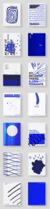 blue and white texture graphics